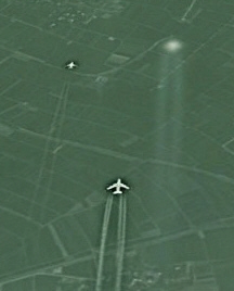 Google Earth: Ein UFO über China?